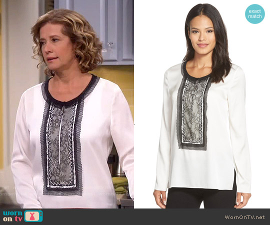Kobi Halperin Iris Blouse worn by Nancy Travis on Last Man Standing