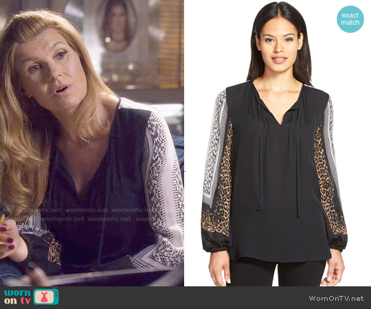 Kobi Halperin Lilly Blouse worn by Connie Britton on Nashville