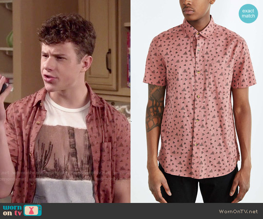Koto Short Sleeve Triangle Breezy Button Dow worn by Nolan Gould on Modern Family