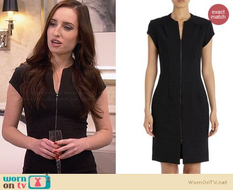 L'Agence Zip Front Dress worn by Zoe Lister Jones on FWBL