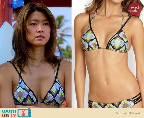 L*Space Katmandu Bikini in Geometric Print worn by Grace Parks on Hawaii Five-O