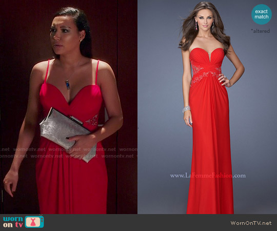 La Femme Dress #19889 worn by Naya Rivera on Devious Maids