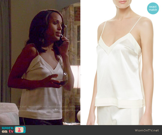 La Perla Natural Silk Essence Top worn by Kerry Washington on Scandal
