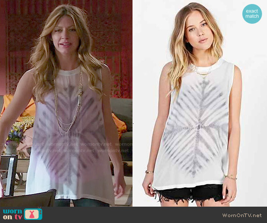 Lacausa Dad's Shirt in Tie Dye worn by Jes Macallan on Mistresses