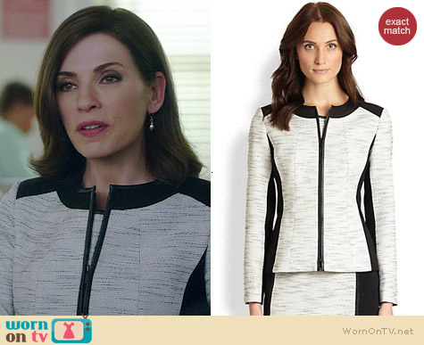 Lafayette 148 New York Essa Jacket worn by Julianna Margulies on The Good Wife