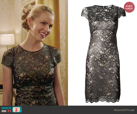 L'Agence Metallic Lace Dress worn by Amanda Schull on 12 Monkeys