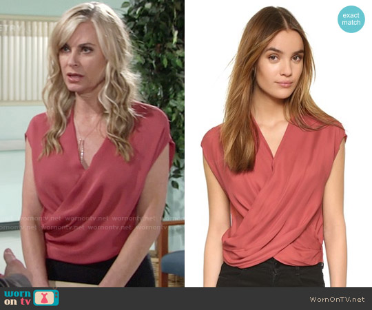 L'Agence Lee Blouse worn by Eileen Davidson on The Young & the Restless