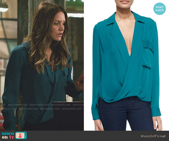 L'Agence Lola Blouse worn by Katharine McPhee on Scorpion