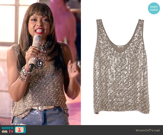 L'Agence 'Odette' Beaded Tank worn by Cookie Lyon on Empire
