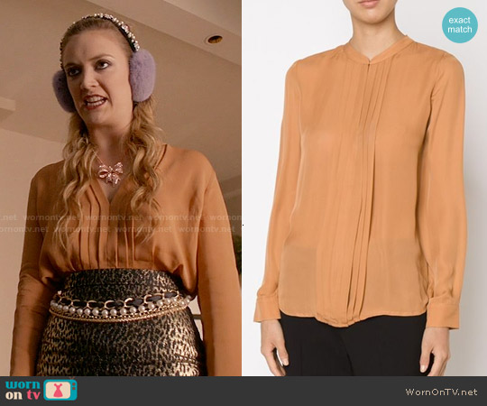 L'Agence Pleated Blouse worn by Billie Lourd on Scream Queens