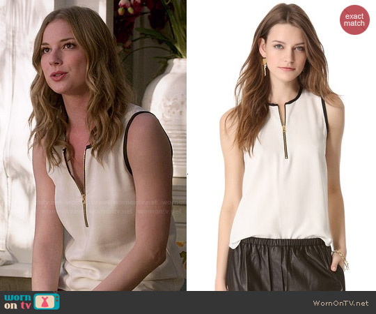 L'Agence Sleeveless Blouse worn by Emily VanCamp on Revenge