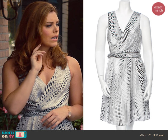 L'Agence Spot Print Dress worn by Kaitlyn Black on Hart of Dixie