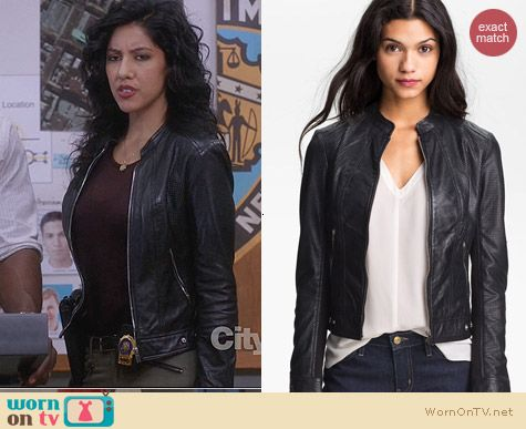 LaMarque Perforated Leather Moto Jacket worn by Rosa on Brooklyn Nine-Nine