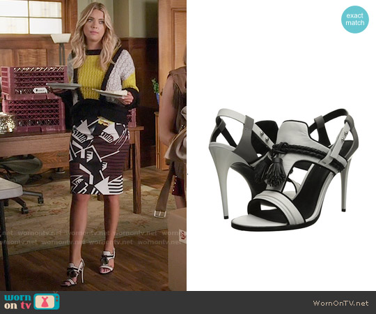 L.A.M.B. Voice Sandals worn by Ashley Benson on PLL