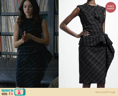 Lanvin Trompe l'Oeil Check Peplum Dress worn by Abigail Spencer on Suits