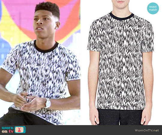 Lanvin Abstract Animal Print T-Shirt worn by Bryshere Y. Gray on Empire