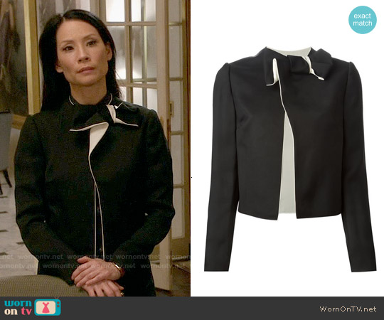 Lanvin Bow Detail Jacket worn by Lucy Liu on Elementary