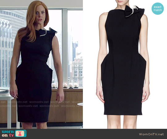 Lanvin Bow Shoulder Wool Crepe Dress worn by Sarah Rafferty on Suits