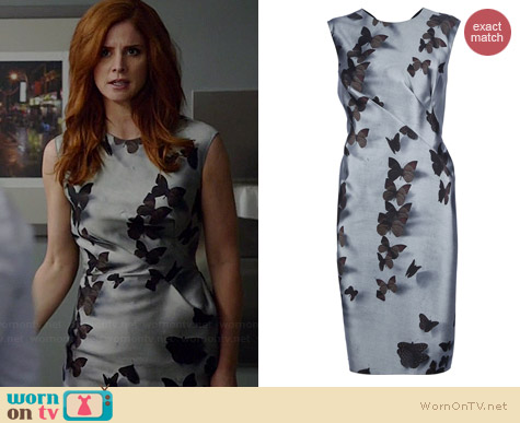 Lanvin Butterfly Print Dress worn by Sarah Rafferty on Suits