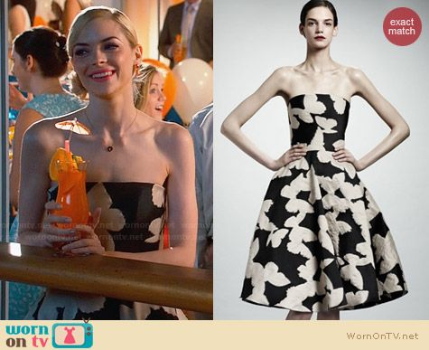 Lanvin Butterfly Jacquard Dress worn by Jaime King on Hart of Dixie