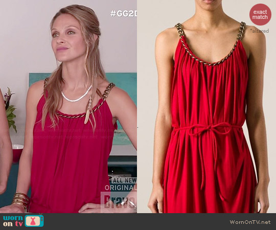 Lanvin Draped Chain Strap Gown worn by Beau Garrett on GG2D