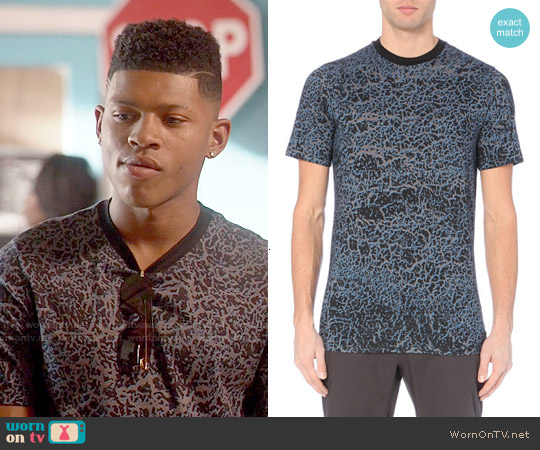 Lanvin Mottled Effect Jersey Print T-shirt worn by Bryshere Y. Gray on Empire