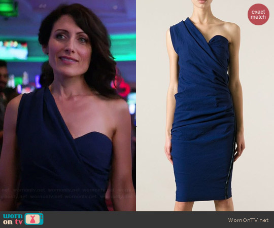 Lanvin Strapless Cocktail Dress worn by Lisa Edelstein on GG2D