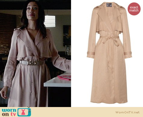 Lanvin Wrap Front Coat worn by Gina Torres on Suits