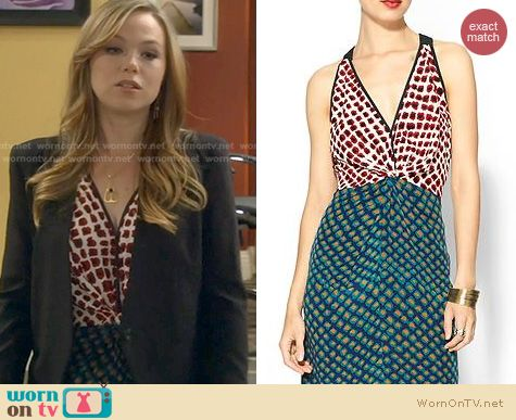 Last Man Standing Fashion: 10 Crosby by Derek Lam Silk Twist Dress worn by Amanda Fuller