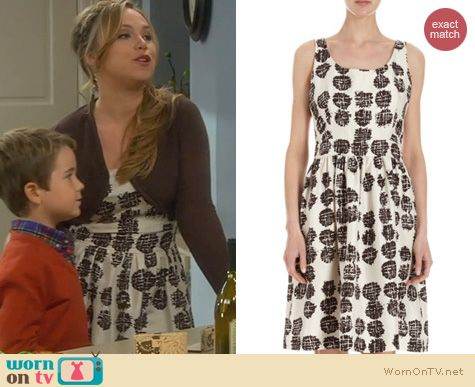 Last Man Standing Fashion: Barneys New York Abstract Dots Dress worn by Amanda Fuller