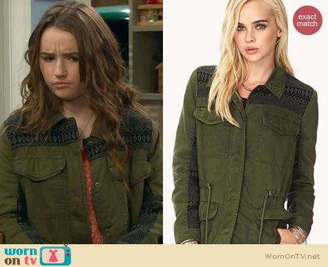 Last Man Standing Fashion: Forever 21 Tribal Utility Jacket worn by Kaitlyn Dever