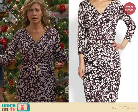 Last Man Standing Fashion: Hugo Boss Printed Jersey Dress worn by Nancy Travis