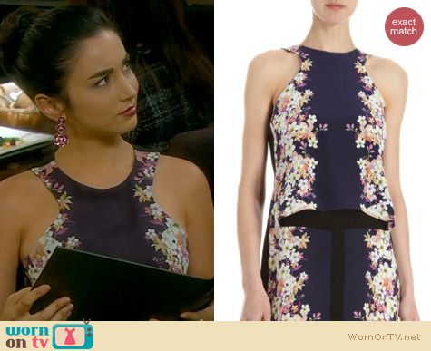 Last Man Standing Fashion: ICB Floral Print Layered Tank Dress worn by Molly Ephraim