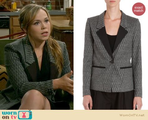 Last Man Standing Fashion: ICB Herringbone Jacket worn by Amanda Fuller