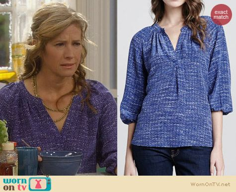 Last Man Standing Fashion: Joie Addie Blouse worn by Nancy Travis