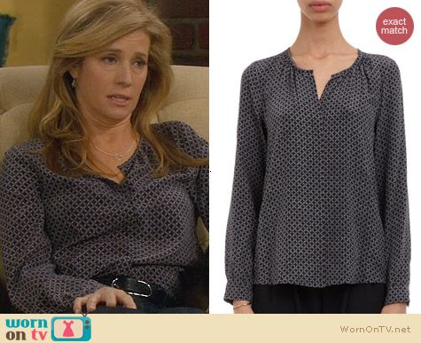 Last Man Standing Fashion: Joie Natelle Blouse worn by Nancy Travis