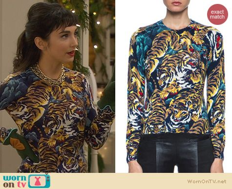 Last Man Standing Fashion: Kenzo Flying Tigers Sweater worn by Molly Ephraim