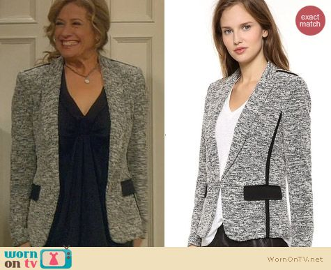 Last Man Standing Fashion: Rag & Bone Aviator Blazer worn by Nancy Travis