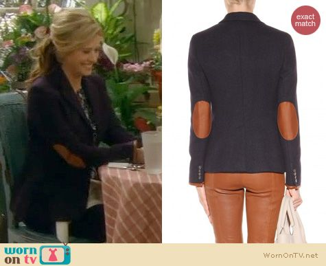 Last Man Standing Fashion: Ralph Lauren Wool Leather trim Blazer worn by Nancy Travis