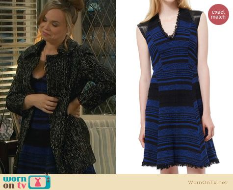 Last Man Standing Fashion: Rebecca Taylor Striped Tweed Dress worn by Amanda Fuller