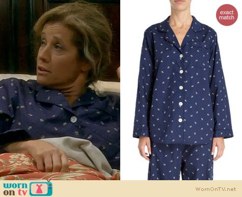 Last Man Standing Fahion: Steven Alan Leaf and Dot Pajamas worn by Nancy Travis