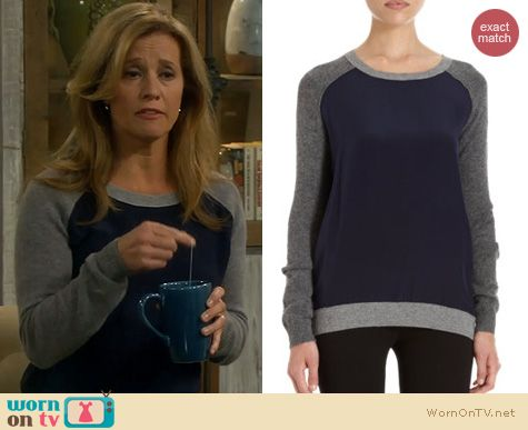 Last Man Standing Fashion: Vince Colorblock sweater worn by Nancy Travis