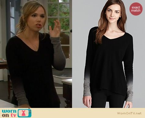 Last Man Standing Fashion: Vince Dip Dye Sweater worn by Amanda Fuller