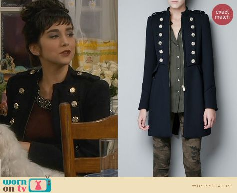 Last Man Standing Fashion: Zara Military Coat worn by Molly Ephraim