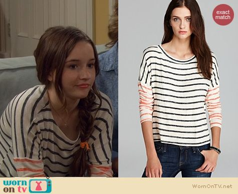 Last Man Standing Fashion: Vintage Havana Striped Top worn by Kaitlyn Dever