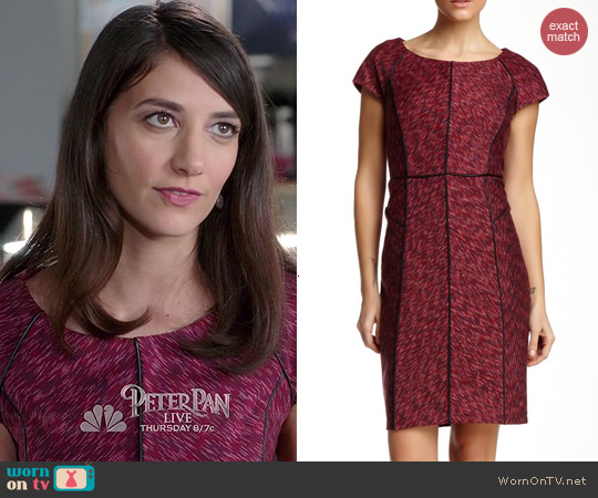 Laundry by Shelli Segal Seam Detail Dress in Hot Date Multi worn by Sheila Vand on State of Affairs