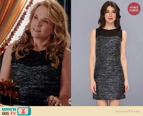 Laundry by Shelli Segal Sequin Boucle and Chiffon Dress worn by Lea Thompson on Switched at Birth