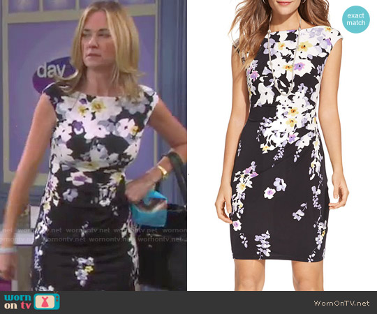 LAUREN Ralph Lauren Floral Jersey Dress worn by Kassie DePaiva on Days of our Lives