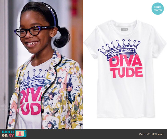 Layer 8 Diva Tude Graphic Tee worn by Marsai Martin on Blackish