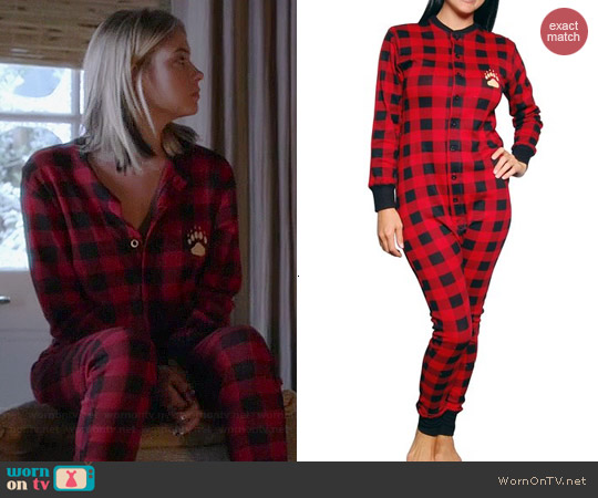 Lazy One Bear Cheeks Flapjack Pajamas owrn by Ashley Benson on PLL